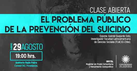 """Exposición de Gabriel Guajardo """"El Problema Público de la Prevención del Suicidio"""" (UAHC)"""