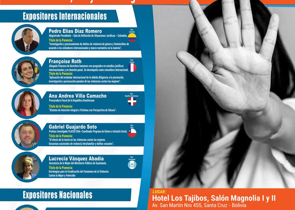 Participación Gabriel Guajardo en Primer Seminario Internacional sobre Violencia de Genero y Feminicidio, Santa Cruz, Bolivia