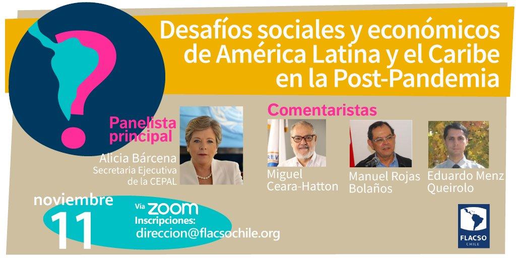 Charla: Desafíos sociales y económicos de América Latina y el Caribe en la Post-Pandemia